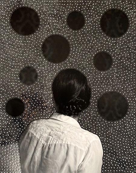 Sissi Farassat: Room 103, 2019, 50 x 40 cm, C-Print embroidered with sequins, Unique piece