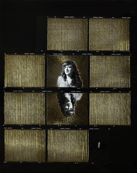 Sissi Farassat: Contactsheet #54, 2017, C-Print with Thread, 30 x 24 cm, Unique piece