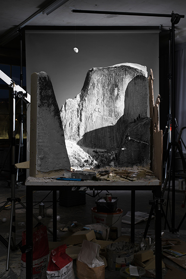 Making of 'Moon and Half Dome' (by Ansel Adams, 1960), 2016180 x 120 cm / in an edition of 3 + 1APDigital C-type printSmaller size available / 105 x 70 cm, Edition6 + 1AP© Cortis & Sonderegger, 2019 THE RAVESTIJN GALLERY