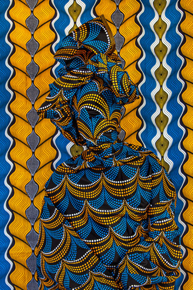 Alia AliOchre Waves, 2019Archival Pigment Printmounted, upholstered frame with African Wax Print122 x 91,5 cmEd. 5 + 1 AP