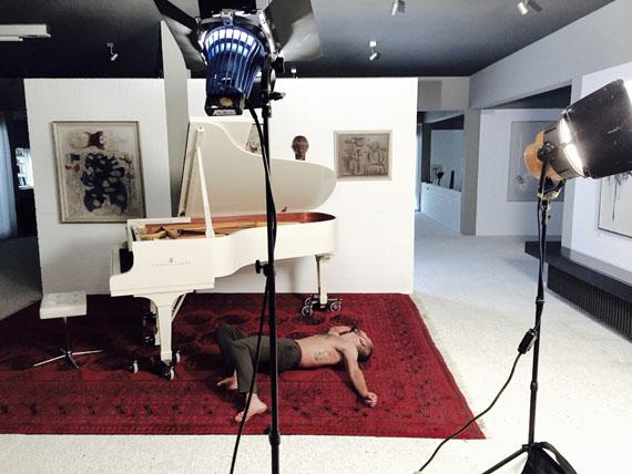 Johanna Diehl: MARS, 2019, Filmstill/Making of, Video, Projektion, Farbe, Sound, Dauer: 15 minCourtesy die Künstlerin und Galerie Wilma Tolksdorf Frankfurt/Berlin