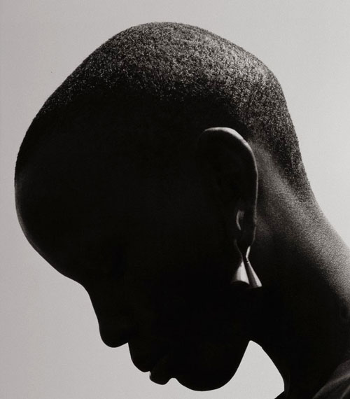 Herb Ritts Woman with Earring - Silhouette, Africa, 1993Gelatin silver print mounted to museum board45 x 30 in.Edition of 12© The Herb Ritts Foundation