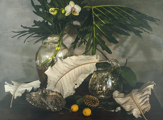 """Lot 4287 Vera Mercer. """"Green Leaves"""". 2014. C-Print on aludibond."""