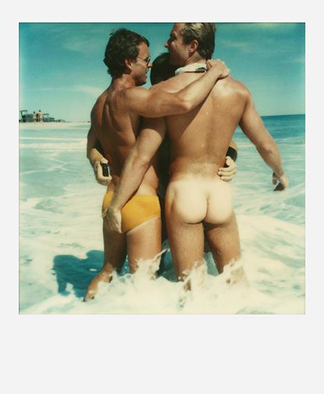 Tom Bianchi, Untitled 780, Fire Island Pines, Polaroids,1975-83Courtesy BENRUBI GALLERY
