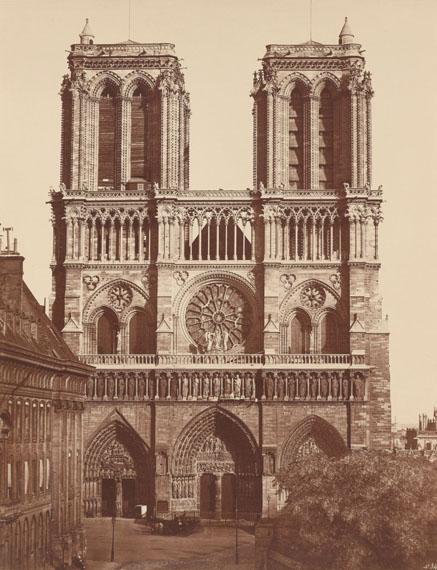 Édouard Baldus: Nôtre-Dame, Paris, circa 1857, albumen paper © Archiv der Universität der Künste, Berlin