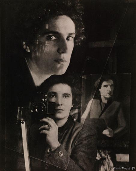 Marta Hoepffner: Selbstbildnis im Spiegel, 1941, Überblendung©  Museum – Galerie Lände, Kressbronn