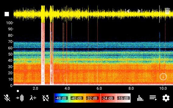 recorded ultrasound spectrum sample 1, 2019 © Sheng-Wen Lo