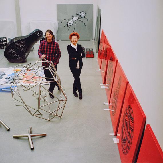 """Heidi HarsieberPeter und Tanja Kogler, 2013 aus der Serie: """"Einblicke. Künstler und ihre Partner"""""""
