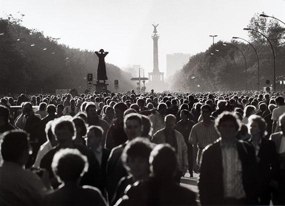 Barbara Klemm: Tag der deutschen Vereinigung, Berlin, 3. Oktober 1990