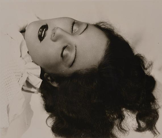 70.Daniel Masclet (1892-1969)Eyes Closed (Odette Joyeuse), 1929.Vintage gelatin silver print, signed.