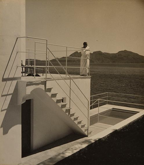 113.Jean Moral (1906-1999)Majorca. Formentor, 1933.Fishing boat. Hanging laundry. Villa of Reynaldo Luza.Four (4) vintage gelatin silver prints.