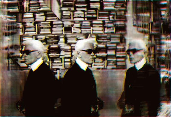 Karl Lagerfeld: Selbstporträt, 2007 © Karl Lagerfeld