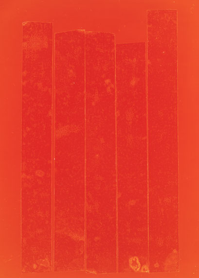 Frank Mädler: Rote Wand, 2020. Cameraless photograph, 157 x 114 cm,  Ed. 2