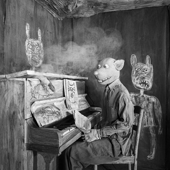 """Roger Ballen: Smoked Out, 2020, from the series """"ROGER THE RAT"""""""