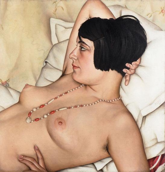 Christian Schad: Half nude, 1929© Kunst- und Museumsverein im Von der Heydt-Museum, Wuppertal / VG Bild-Kunst, Bonn 2020