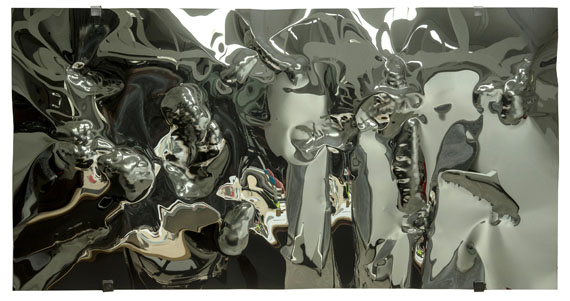 Hubertus HammMolded Mirror No. 7, 2017Edelstahl125 x 240 cmUnikat
