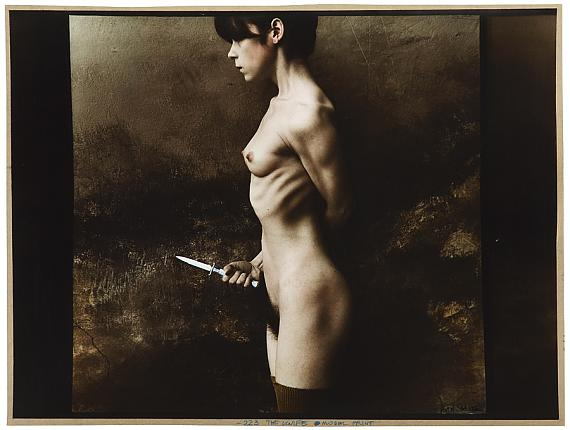 Jan Saudek: The Knife, 1983 