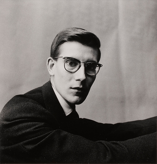 122 Irving Penn (1917-2009)Yves Saint Laurent. Paris, 1957.Gelatin silver print (c. 1960).