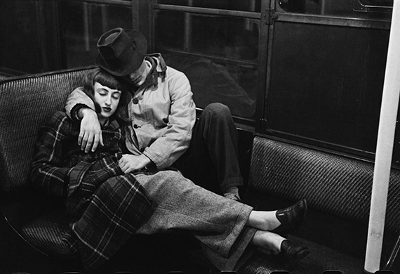 Stanley Kubrick for Look magazine. Life and Love on the New York City Subway. 1946. Museum of the City of New York. The LOOK Collection. Gift of Cowles Magazines, Inc., 1956. ©SK Film Archives and Museum of the City of New York