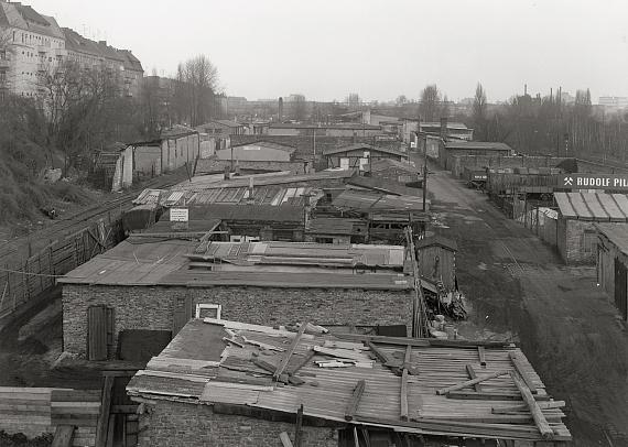 Lot 4531 Michael Schmidt. View from the Monumentenbrücke, Berlin. 1975. Vintage gelatin silver print