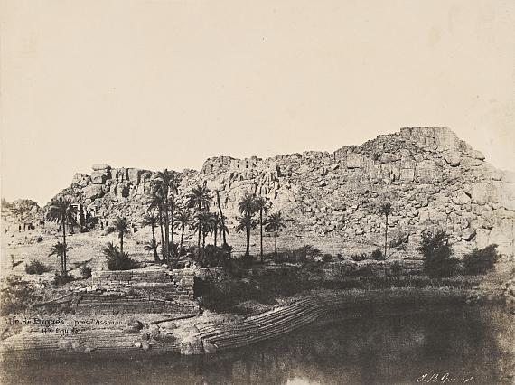 """Lot 307 John Beasley GREENE (1832-1856)""""Île de Beghé"""", de l'album """"Monuments et paysages de la Nubie et de la Haute-Egypte 1854"""""""