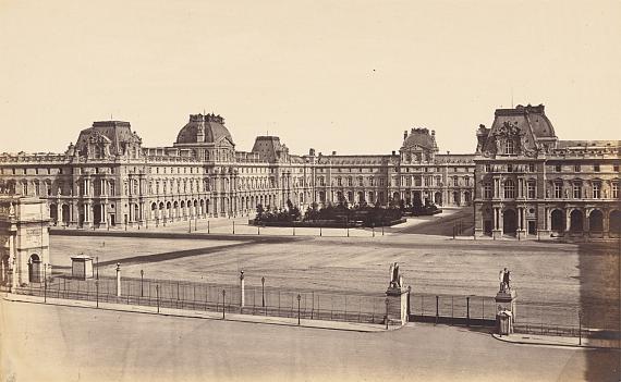 Édouard Denis BaldusLa Cour Napoléon du Louvre, Vue du Carrousel / Pavillon Mollien, circa 1857Estimate: EUR 1.000 – 2.000© Grisebach GmbH