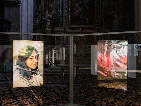 "Daniel Reuter: view of installation ""Providencia"", Chapelle de la Charité, 2021 © Romain Girtgen/CNA"