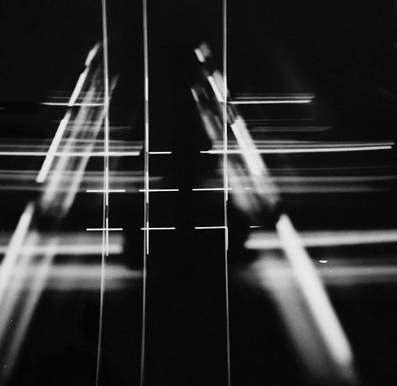 Roger Humbert: Untitled (Photogram), 1961, Photogram on Baryt paper, 24 x 24 cm