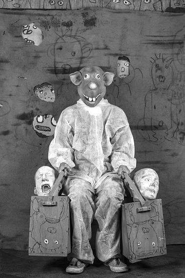"""Roger Ballen: Bagged, 2017, from the series """"Roger the Rat"""""""