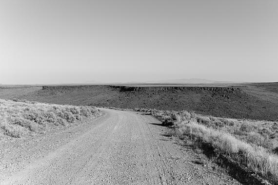 "Owen Gump: ""County Road, Sheldon National Wildlife Refuge"", Nevada, 2020, Pigment Print on Baryta PaperCourtesy BQ Berlin © Owen Gump"