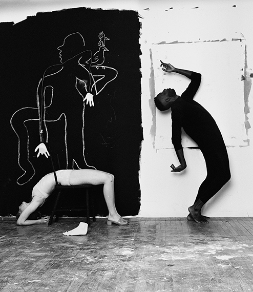 Jerome and Bobby Dancing in My Studio, 2018Archival pigment print on rag baryta paper, mounted, framed with museum glassAvailable in three sizes, all within the same edition of 5© Michael Bailey-Gates, courtesy THE RAVESTIJN GALLERY, Amsterdam