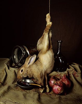 Nature morte au lapin, © 2004 by Guido Mocafico