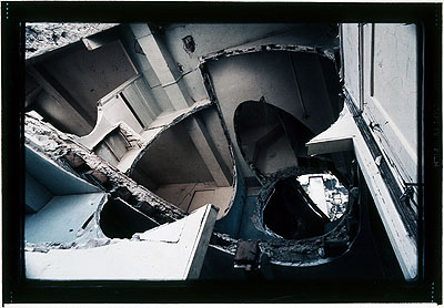 Gordon Matta-ClarkÉtant d'art pour locataire, Quel Con, Quel Can ou Call Can, 1975 (Konischer Einschnitt)C-print, 101,5 x 127,4 cm Collection Fotomuseum Winterthur, acquisition made possible by the