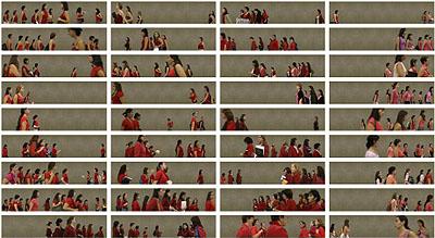 BAQUEDANO 04 - Chilean women in red, 2005, 140 x 240 cm © Pablo Zuleta Zahr