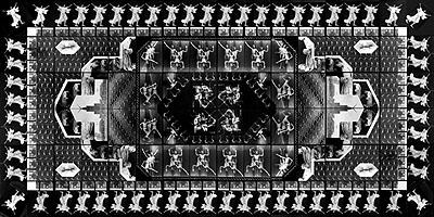 The Human Motif I (photo-carpet), 1989, 240x480 cm, silver gelatine print