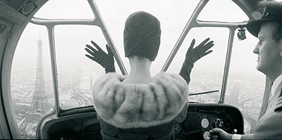 Cardin Hat over Paris. Queen, 1960, printed 2008Gelatin silver hand processed print, printedon Ilford fibre based paperEdition of 2140 x 50 cm/ 16 x 20 inches – paper sizePrinted under the supervision of the Norman Parkinson Archive, London