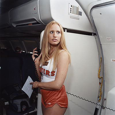 Brian FinkeSarah, Hooters-Air, 2005© Brian Finke Courtesy of the Stephen Cohen Gallery