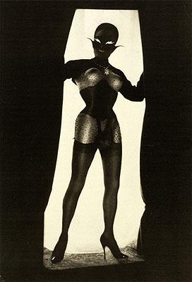 Pierre MolinierAutoportrait avec objet fétiche, chaman, 1968(Self-portrait with a Fetish Object, Shaman)Gelatin-silver print, 24 x 18 cmPrivate collection© Pro Litteris, Zürich
