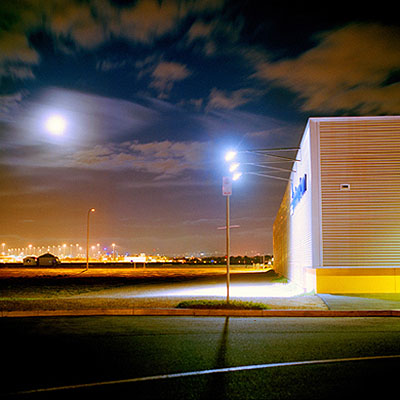 Mark KimberMoonrise over airportfrom Edgeland 2008giclée print80 x 80cm, edition of 6 + 2 AP