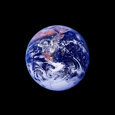 Apollo 17 astronauts viewed a full Earth for the first time, Apollo 17, 1972.