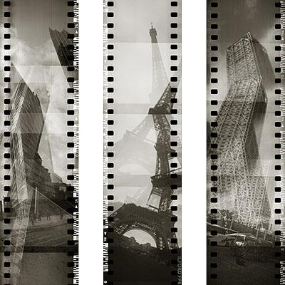Vertikale, Potsdamer Platz - Eiffelturm - Hotel Arts, Analogstitch, © Matthias Hagemann
