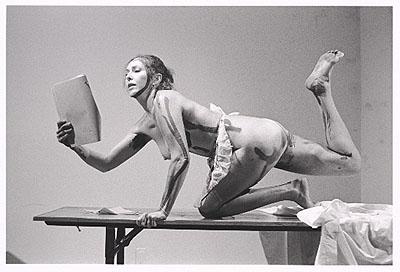 Carolee Schneemann, Interior Scroll (one of 13 silver gelatin prints), 1975