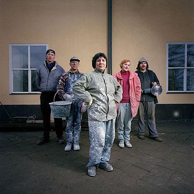 Tuomo Manninen: Mitarbeiter der Gebäuderenovierung, Riga, 1997