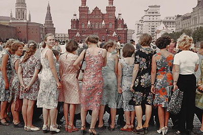 Red Square Girls 1981 Moscow© Boris Savelev courtesy Michael Hoppen GalleryMulti-layered pigment print on gesso coated aluminium, edition of three