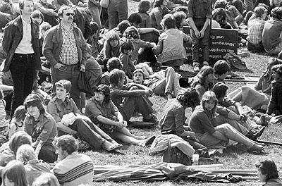 FDJ Pfingsttreffen der Jugend, Nordhausen, 1983 © Olaf Martens
