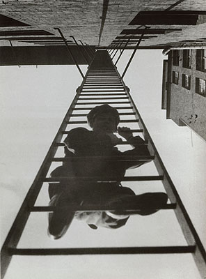 Alexander RodchenkoFire Escape (with a man) © A. Rodchenko, V. Stepanova Archive, Moscow House of Photography Museum
