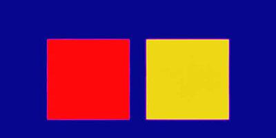 GARRY FABIAN MILLERBlue, Yellow, Red, Summer, 2009Light, water, lambda printArt size: 96 x 48 inchesEdition of 3 + 2 AP