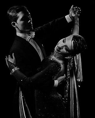 Ballroom Dancers, 2008© Valérie BelinSilk screen print6 panel image, 4 panels at 127 x 152 cm, 2 panels at 126 x 152 cm
