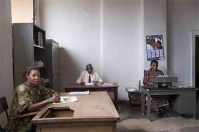 Guy TillimFrom the series Avenue Patrice Lumumba:Typists, Likasi, DR Congo2007