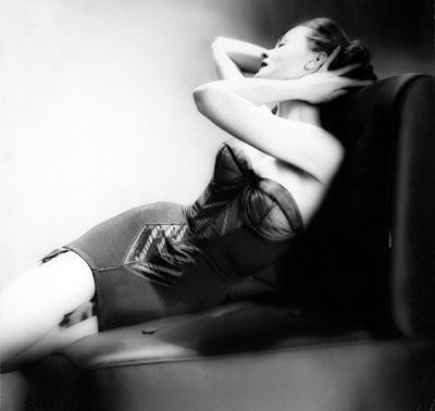 © Lillian Bassman, The Line Lenghtens, model unknown, lingerie by Lily of France, Harper's Bazaar, 1955